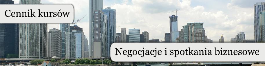 Cennik kursów Negocjacje i spotkania biznesowe
