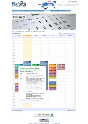 Plan szkoły językowej